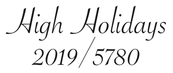 Download the 2019/5780 High Holiday booklet.
