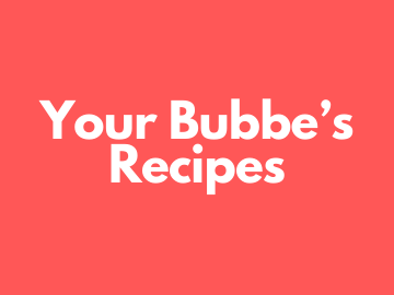 bubbes recipes small group